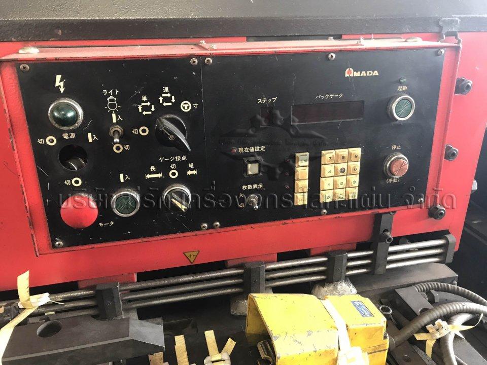 เครื่องตัด ราคาถูก Amada รุ่น M2045 ปี 1989 เป็นกึ่ง CNC มี
