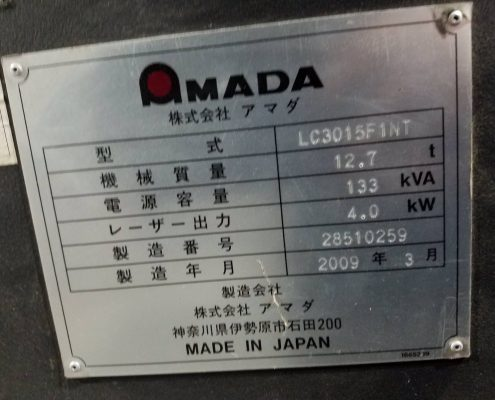 Amada รุ่น LC3015F1NT (1)